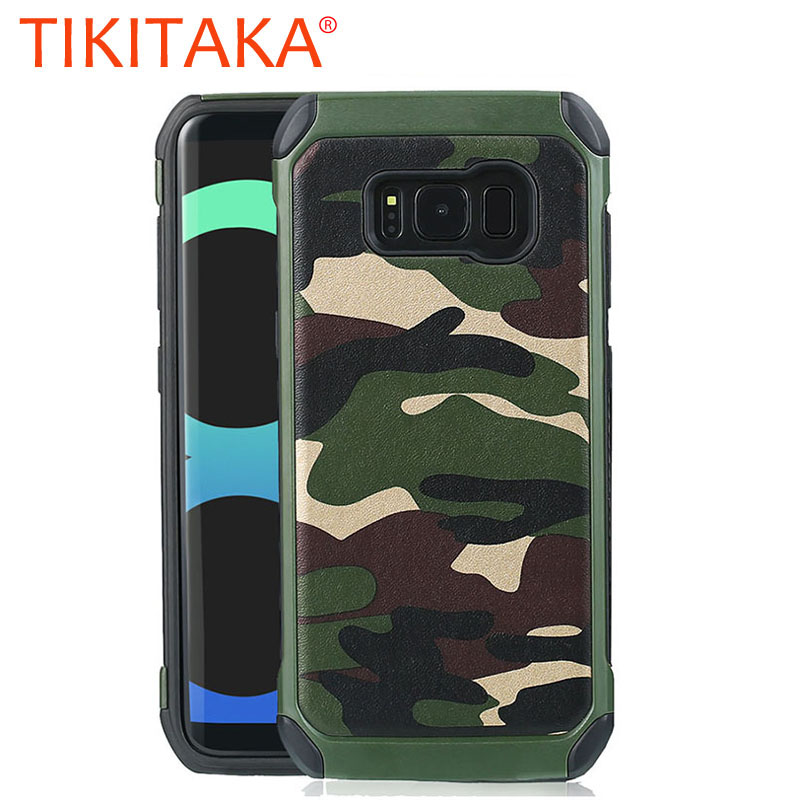 Cool Camouflage Armor Case For Samsung Galaxy S8 S7 S6 Edge Plus Fundas Silicone + PC Hybrid Shockproof Phone Cases Shell Capa