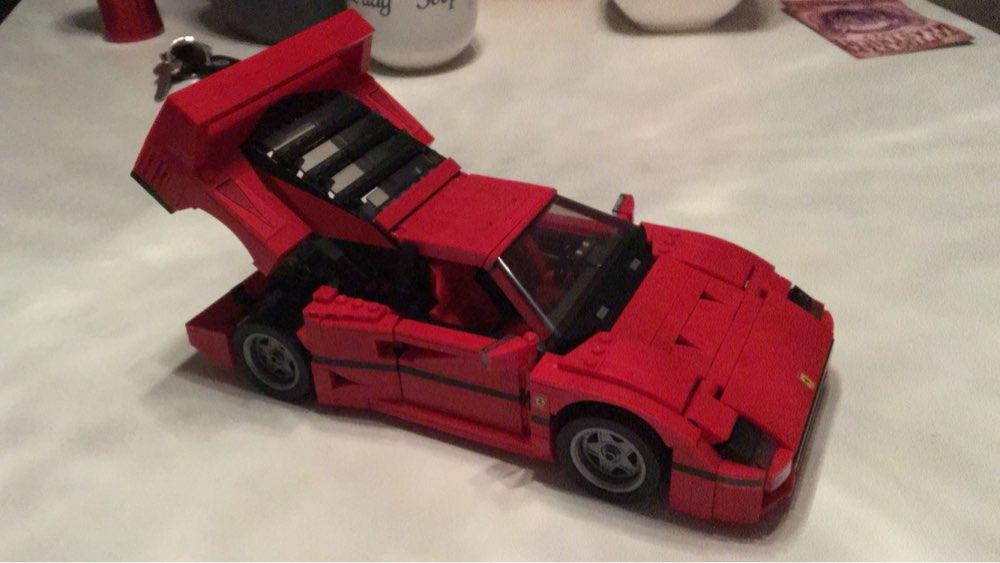 mylb Ferrarie F40 Sportbil Modell Byggstenar Kits Tegel Leksaker - Byggklossar och byggleksaker - Foto 3