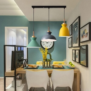 Image 2 - Pack of 3 Dining Table Lamp Lights Macaroon Colorful LED Modern Pendant Lamp Hanglamp for Kitchen Island Ceiling Room Lighting