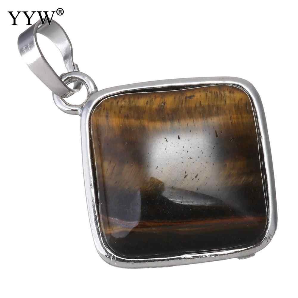 Venta al por mayor de piedra de cristal Natural colgante de cuarzo Semi preciosas rombo cuentas rojo Natural collares y pendientes para mujer creado