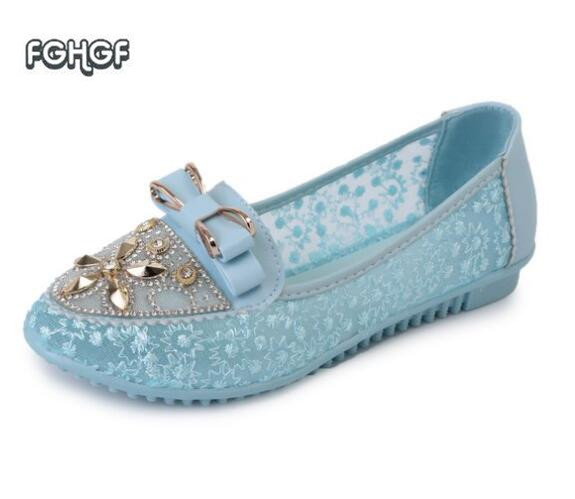 Summer Women Shoes White Mesh Crystal Slip-on Shoe Ladies Pointed Toe Flats Shoes Woman Espadrilles Ballerinas Femme Tenis Tufli fashion metallic pu pointed toe women flats concise shallow mouth slip on flats for women ladies casual flat ballerinas shoes