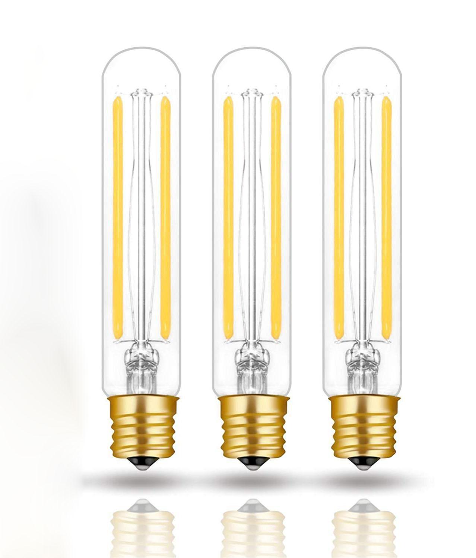 100% Original Dimmable E17 T6.5 Lights Lamp T6 T20 Tubular Filament Bulb 110V 220V Intermediate Base Edison Glass