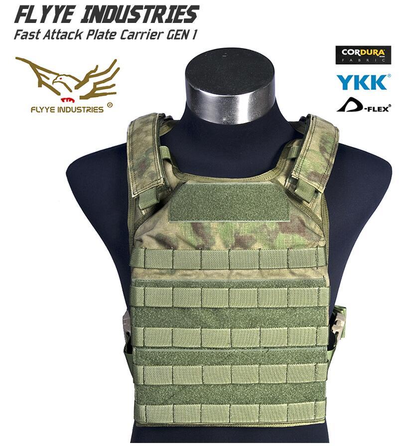 In stock FLYYE genuine MOLLE  Fast Attack Plate Carrier GEN 1 Military Tactical Vest  VT-M001 in stock flyye genuine molle force recon vest military tactical vest vt m013