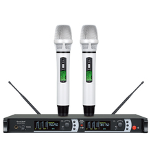 SOUNAPATH fine quality good sound true range EM-3832 Skilled wi-fi condenser microphone system twin wi-fi mikrofon