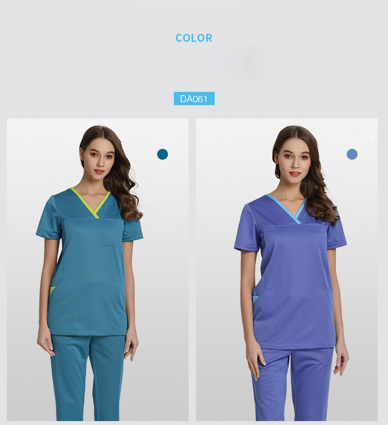 0eb9efb8114 Medical Uniforms Surgeon's Scrub Sets for Women and Men Summer Short  Sleeves V Neck Top and Pant Beautician Workwear Clothing. 1 Size 2 3 4 ...