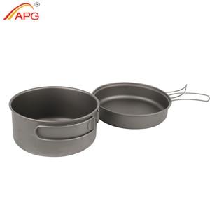 Image 2 - APG 2016 newest ultralight titanium pan and outdoor camping titanium pan enhancing the body resistance