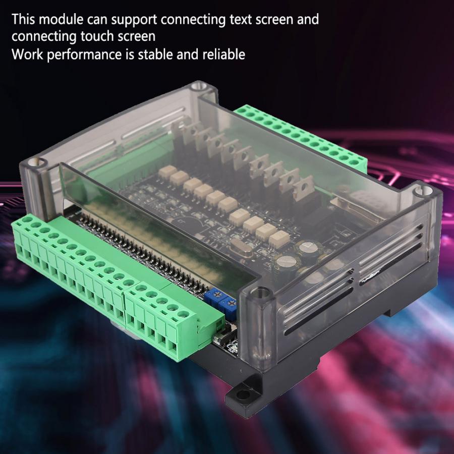 PLC Industrial Control Board FX3U 24MT 14 Input 10 Output 24V 1A High Speed Industrial Control