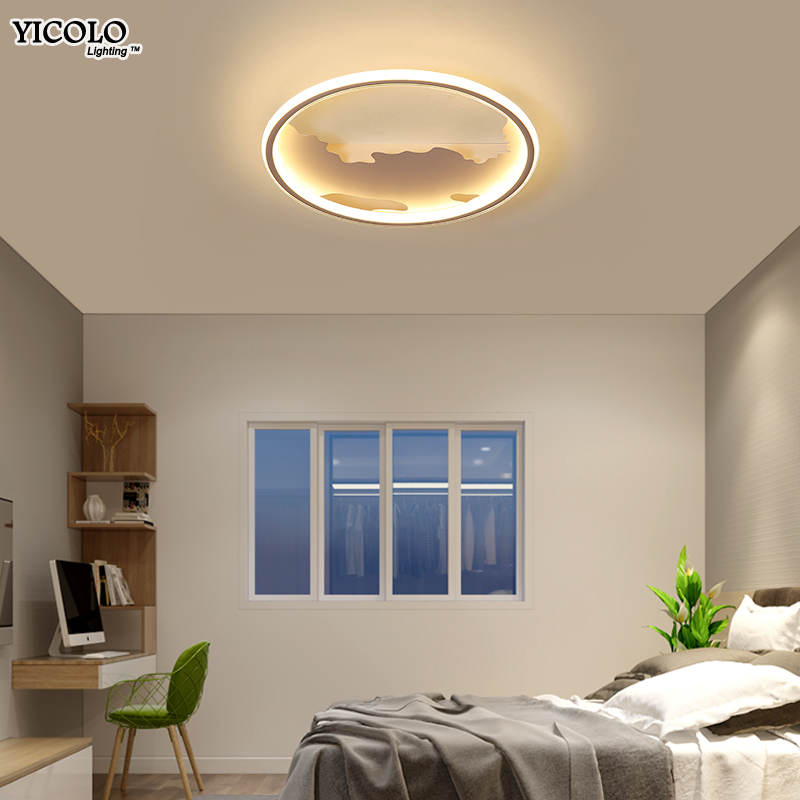 цена New LED Ceiling Lights Fixture hill shape Decor plafonnier led Living Room Bedroom modern Home dimmalbe Lighting luminaria teto