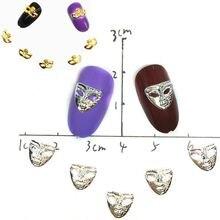 Серебряная маска для дизайна ногтей украшения из сплава маскарадные
