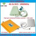 ЖК-Дисплей Мобильного Телефона GSM Репитер 1800 МГц Усилитель Сигнала/4 Г LTE DCS Сигнал Повторителя Усилитель с LPDA Антенна Полный набор