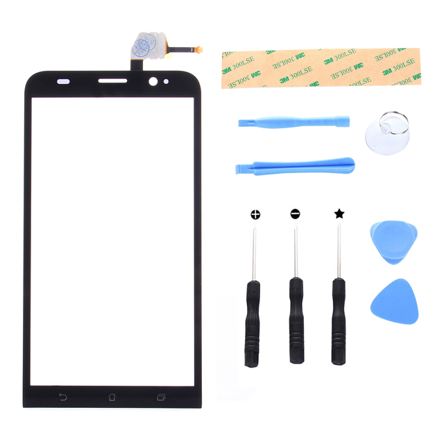 Digitizer Touch Screen glass for Asus ZenFone 2 ZE551ML Z00AD ZenFone 2 Deluxe Front Panel Replacement Touch Panel with Tool Set