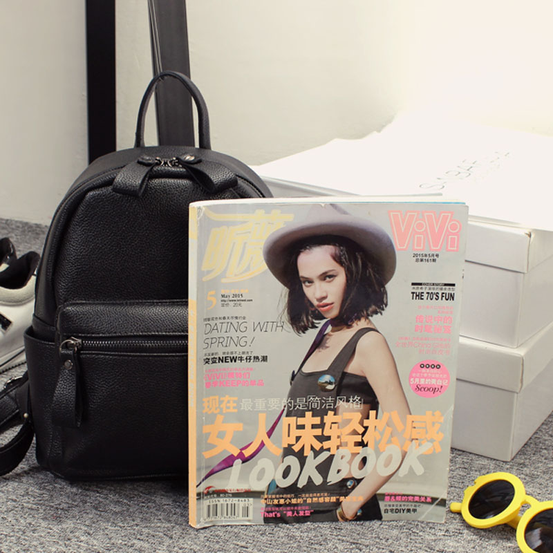 Korean Style New Arrival Hot Selling School Bags For Teenagers Casual Brief Travelling Women's Leather Backpack Gq1173 #5