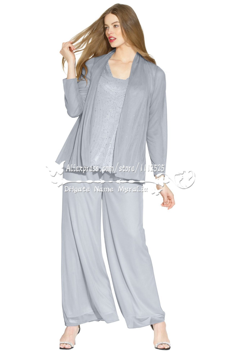 amp 1217 grey delicate beaded chiffon mother of the bride