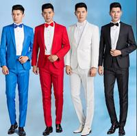 Primavera mens sposo abito da sposa set vestito degli uomini costume homme abiti maschili terno masculino cantante palco rosso bianco nero blu grigio