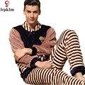 Fashion Men Pajamas Set New Pijama Bathrobes Man Robes Big Size Thickening Winter Flannel Long-Sleeve Coral Fleece Robe SY824