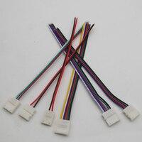 Cable de conector de clip único para tira de luz LED RGBWW 3528 RGB, 5 uds., 2 pines, 3 pines, 4 pines, 5 pines, 6 pines