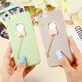 Bling del brillo del diamante arco case para iphone 7 7 plus polvo brillante de lujo cubierta suave de tpu para iphone 6 6 s plus 5 5S sí candy color