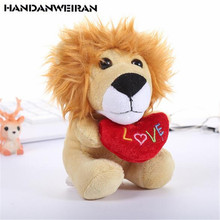 1PCS Cartoon Lion Tiger Plush Toys Pendant New Animal Toy Activitys Gift For Kids 2019 Hot PP cotton 14CM HANDANWEIRAN