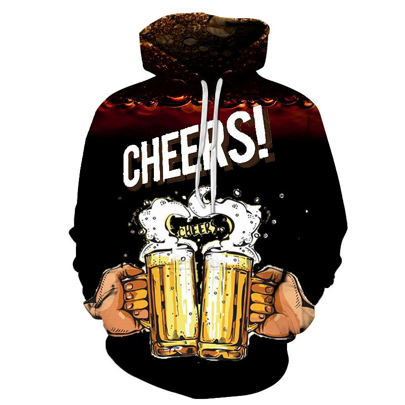 2019 3D German Stout Hoodies Sweatshirts Men Beer 3D Print Casual Fashion Streetwear Top Pullover Spring Tracksuit Plus Size 6XL