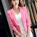 New Fashion Women Blazers and Jackets 2017 Spring Autumn White/Pink Slim Long-sleeve Ladies blazer feminino branco Plus Size