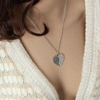 2017 Eternal Love Heart Pendant Necklace Sweater Chain Necklace Women Long Necklace Statement Necklace Jewellery
