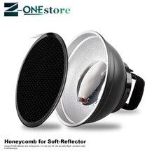Universele Mount Flash diffuser + zachte doek + honingraat voor Nikon SB900 SB700 SB5000 Camera Flash