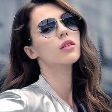 Fashion Pilot Sunglasses Women 2020 Luxury Frameless Sun Gla