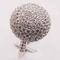 Khổng lồ Trắng Crystal Zircon 925 Sterling Silver Phụ Nữ Nhẫn Kích Thước 7 8 9 10 F583 Thời Trang Bán Buôn Đồ Trang Sức Miễn Phí Vận Chuyển