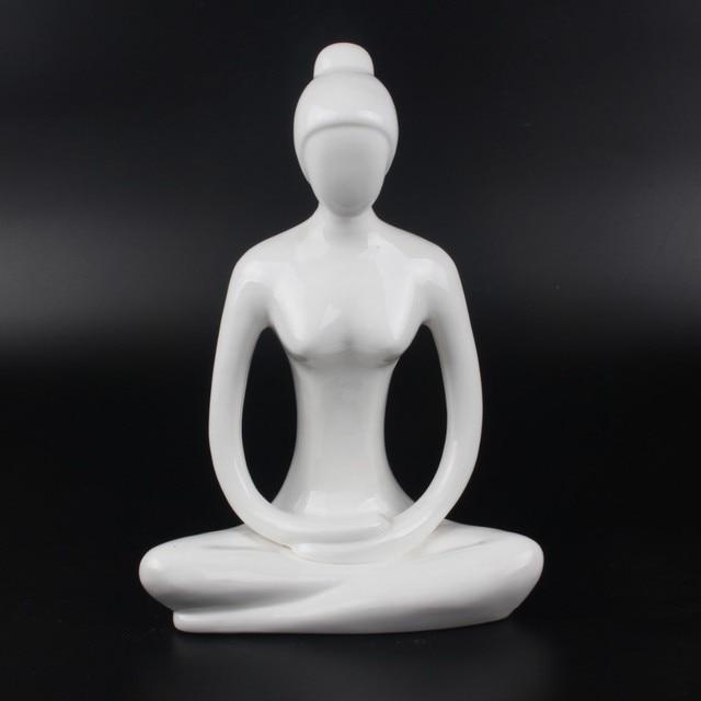 Exceptionnel Yoga Women Figurine Zen Garden Statues Ceramic Women Meditate Home  Decoration