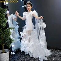 Платье для девочек подростков 2 16 лет, рождественское платье принцессы для свадебной вечеринки, праздничный костюм для девочек, детская хло