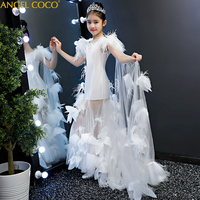 2 16 Yrs Teenagers Girls Dress Wedding Party Princess Christmas Dresse For Girl Party Costume Kids Cotton Party Girls Clothing