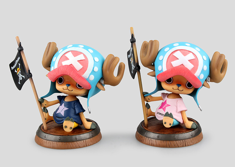 Huong Anime One Piece 10cm Tony Tony Chopper Pirates Of The Flag Action Figure Collection Toys Christmas Gift Action & Toy Figures