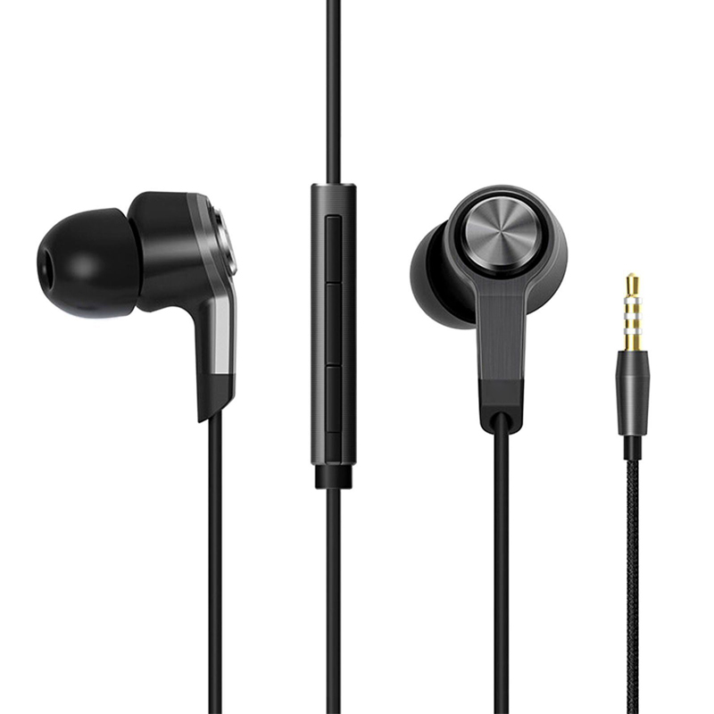 Metal Wired Piston Earphone For XIAOMI Redmi M5 With Volume Control And Microphone MIC Sport In-Ear Stereo Earbud Music Earphone rock y10 stereo headphone earphone microphone stereo bass wired headset for music computer game with mic