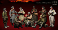 Assembly model kit 1/ 35 Russian Soldiers, winter include 10 figure Historical Resin Model Unpainted resin kits