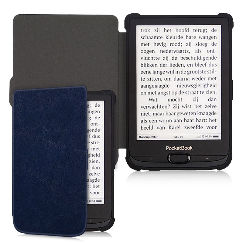 AroitaTPU Бизнес мягкий чехол для Pocketbook basic lux 2/Touch Lux4/616/627/632 E-Book с автовключение/сна Однотонная одежда крышка