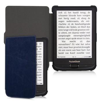 AroitaTPU Iş Yumuşak Pocketbook temel lüks 2/Dokunmatik Lux4/616/627/632 ile E-kitap otomatik Uyandırma/Uyku Saf Renk Kapak