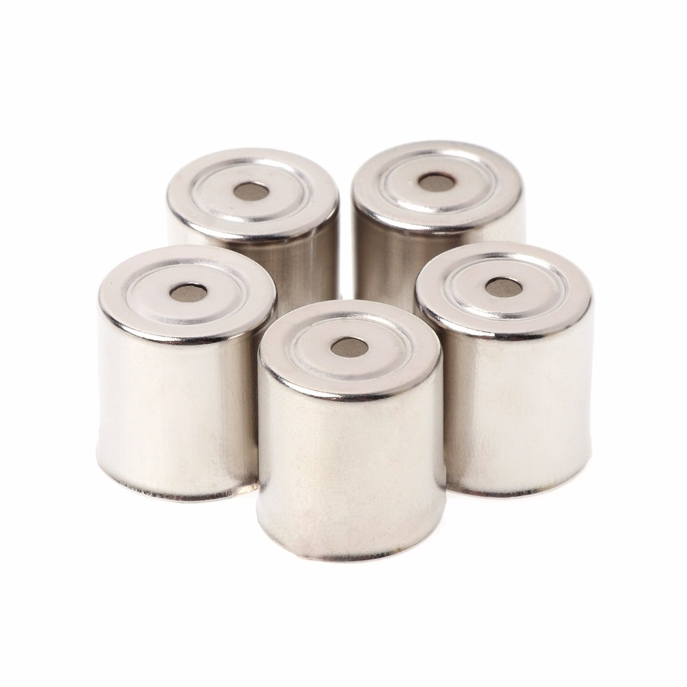 5PcsSet Steel Cap Microwave Oven Replacement Round Hole Magnetron Silver Tone