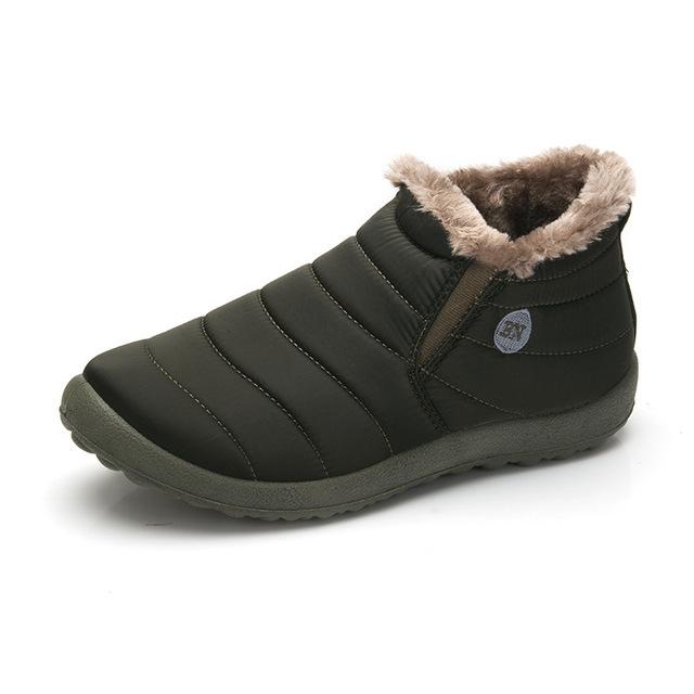 Moda Hombres Zapatos de Invierno de Color Sólido Botas de Nieve de Algodón En El Interior Parte Inferior antideslizante Mantener Caliente Impermeables Botas De Esquí Tamaño 39-48