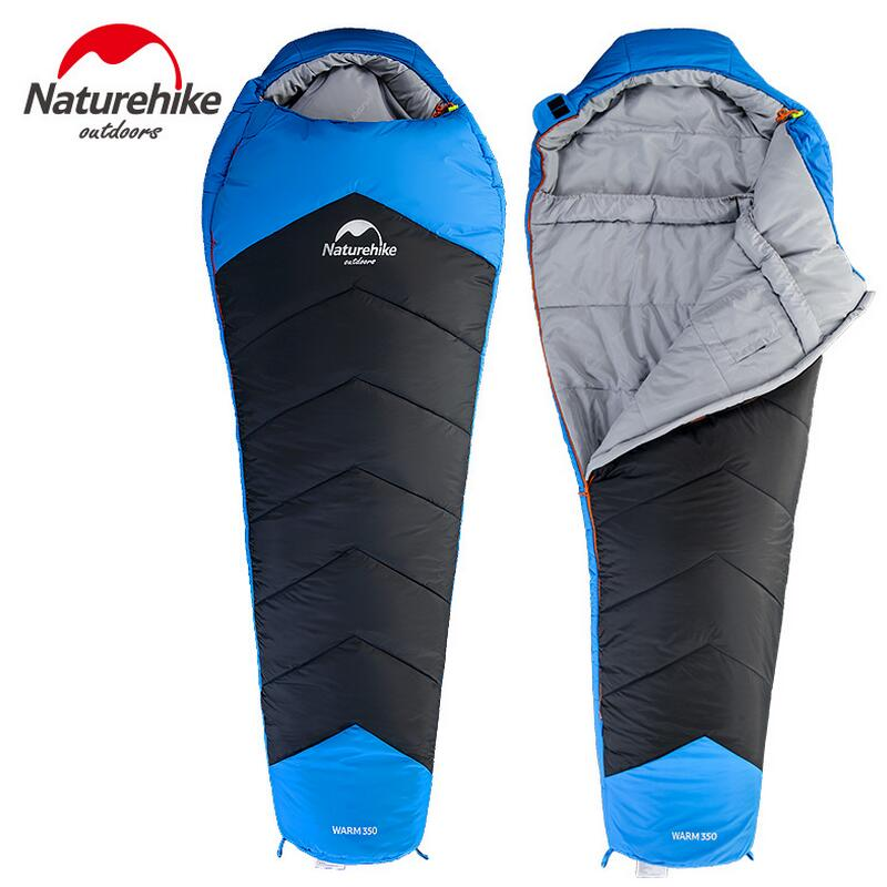 Naturehike ultralight mummy sleeping bag adult camping travel 3 seasons cotton sleeping bag winter camping equipment NH17S350-D naturehike waterproof mummy camping sleeping bag cutton lining winter outdoor ultralight warmth camping sleeping bag nh15s013 d