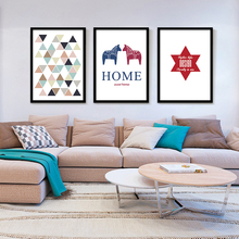 Frame Poster Triangles Geometric