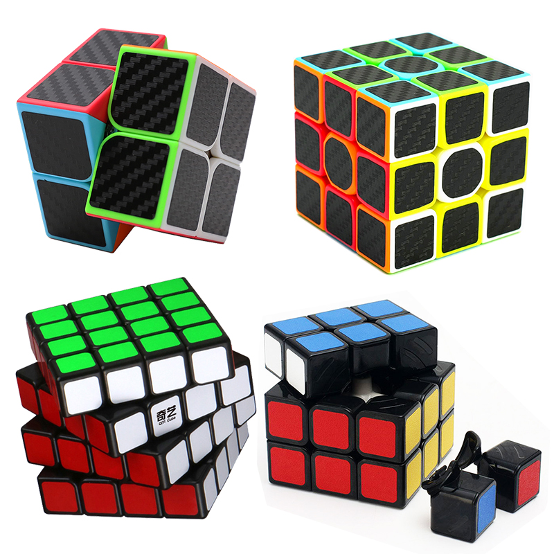 QiYi Professional Cube 2x2x2 3X3 4X4 Neo Cubo Puzzle Speed Magic Cube Learning Education Children Grownups Game Cube Toy Gift