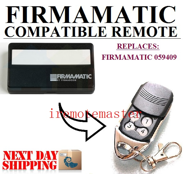 FIRMAMATIC 059409 Remote, FIRMAMATIC Garage Door Remote Replacement