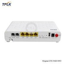 Вторая рука zte F660 GPON ONT 4 LAN+ 2 голоса+ wifi+ USB GPON 3,0 Версия оптический сетевой терминал английская версия