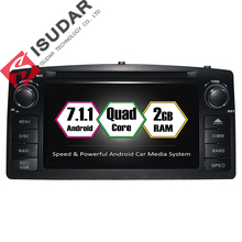 Android 7.1.1 Deux Din 6.2 Pouce Lecteur DVD de Voiture Pour BYD/F3 pour Toyota/Corolla E120 RAM 2G WIFI GPS Navigation Radio FM Cartes