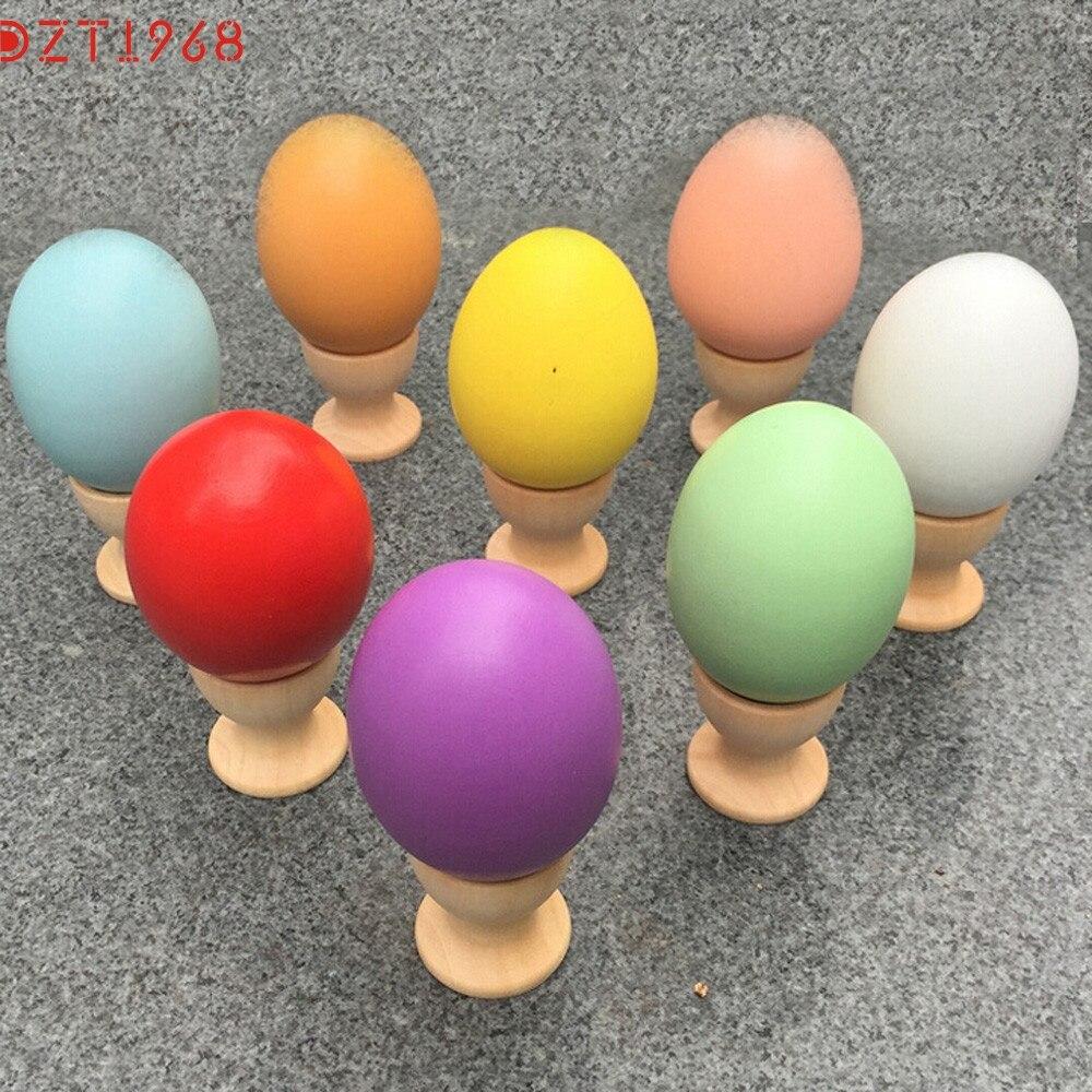 Dzt6 лучший продавец падение корабль дети diy живопись деревянный цвет яйцо игрушки пасхальное яйцо образования игрушки подарок s30