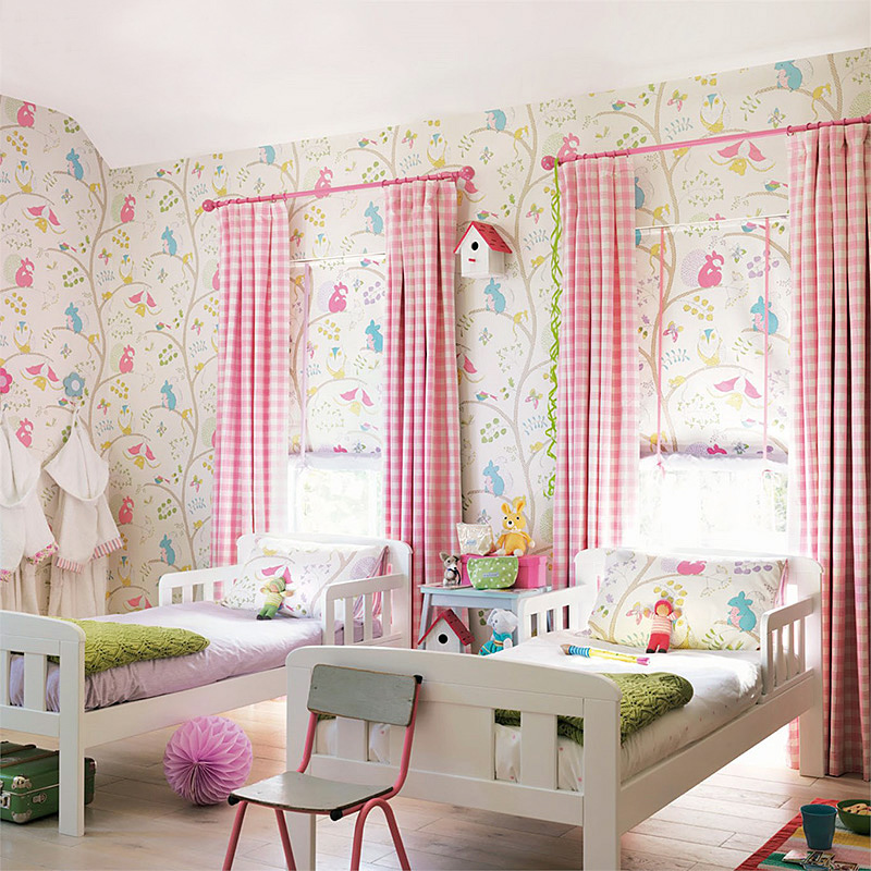 0.53x10 m cartoon mouse and owl pattern children's room wallpaper bedroom study room living room non-woven wallpaper