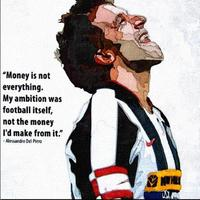 Figure Oil Paintings For Living Room Decorative Pictures Hand Painted wall canvas italy Football Star Alessandro Del Piero