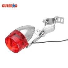 OUTERDO clásico Retro bicicleta trasera LED indicador luz roja soporte de Cable ATV luz trasera del coche lámpara para bicicleta de carretera MTB