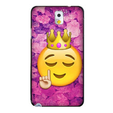 Funny Queen Emoji Colorful Fashion Skin UV Black Bag Case For Samsung Note 3