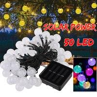 Waterproof 50 LED Solar Garlands Solar Lights Lamp Outdoor Fairy Solar Christmas Party Garden Decoration String Strip Lights